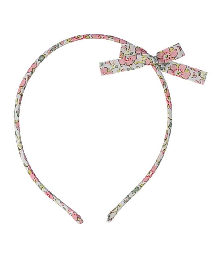 Luciole et petit pois Salmon Floral Headband