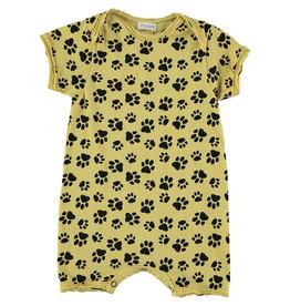 Picnik Yellow Paw Print Romper