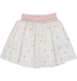 Billieblush White Neon Skirt