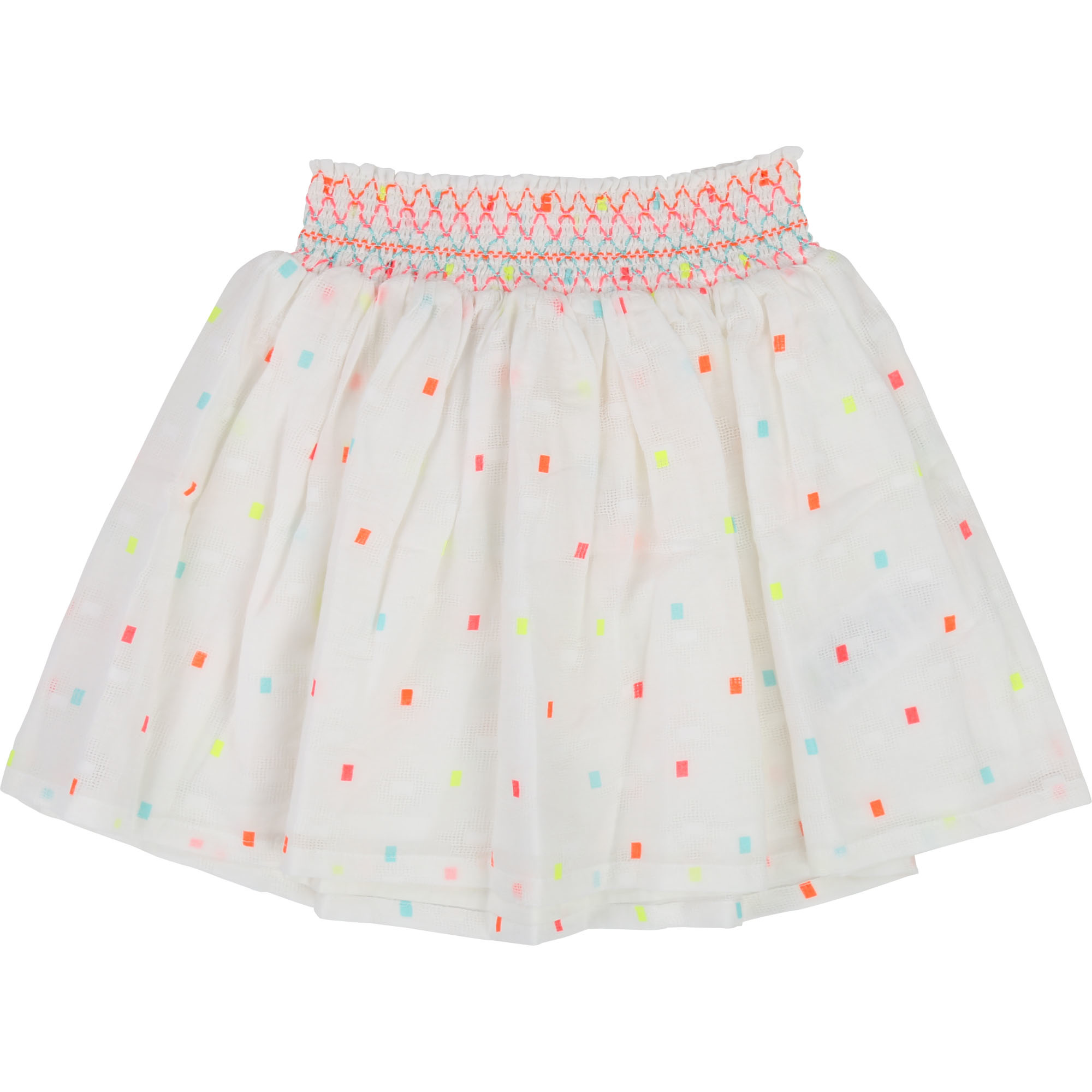 Billieblush White Neon Skirt