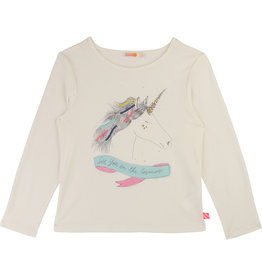 Billieblush White Unicorn Tee
