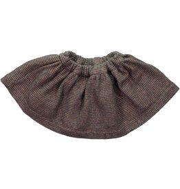 Mademoiselle à Soho Grey Knit Trapez Skirt