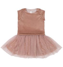 Mademoiselle à Soho Duo Dress Peach Velvet