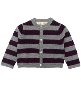 Omibia Reyes Cardigan Grey/Cherry