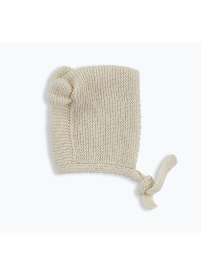 Cashmere Bear Bonnet Cream