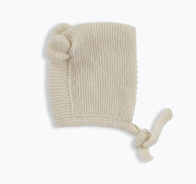 Olivier baby Cashmere Bear Bonnet Cream