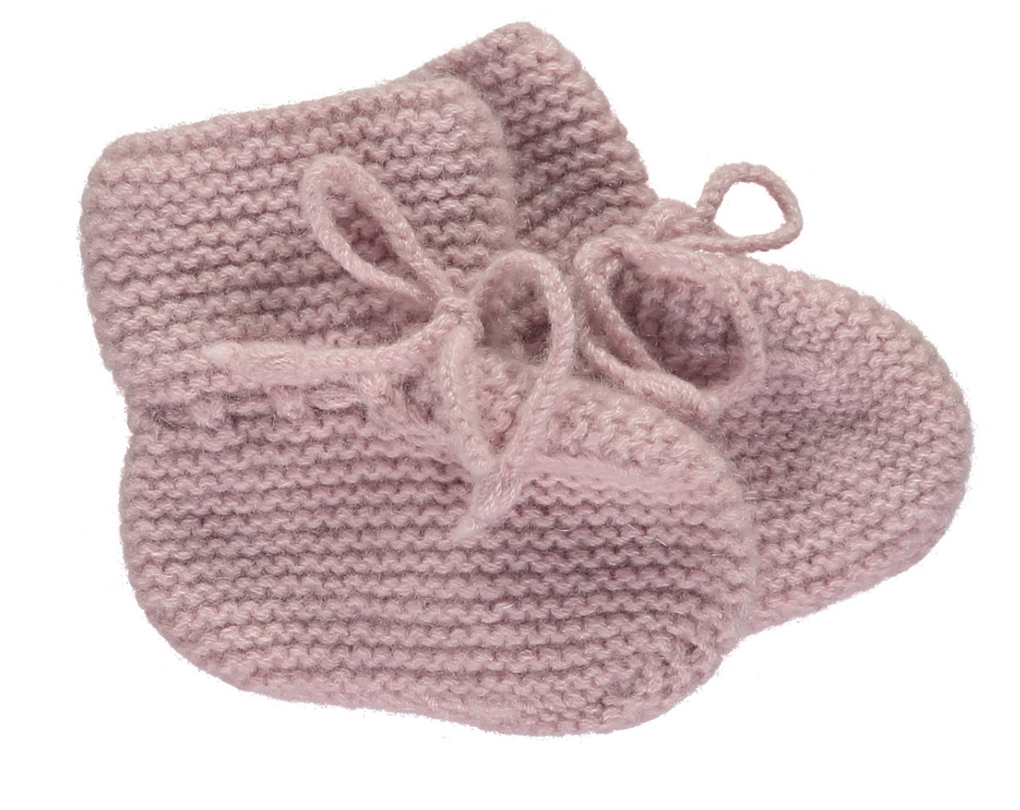 Olivier baby Cashmere Booties Pink