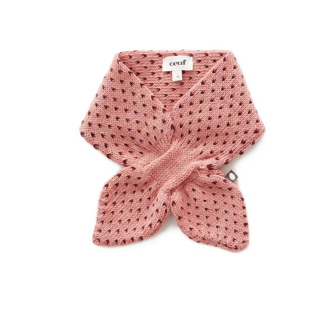 Oeuf Burgundy/Pink Neckie