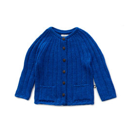 Oeuf Blue Ribbed Cardigan