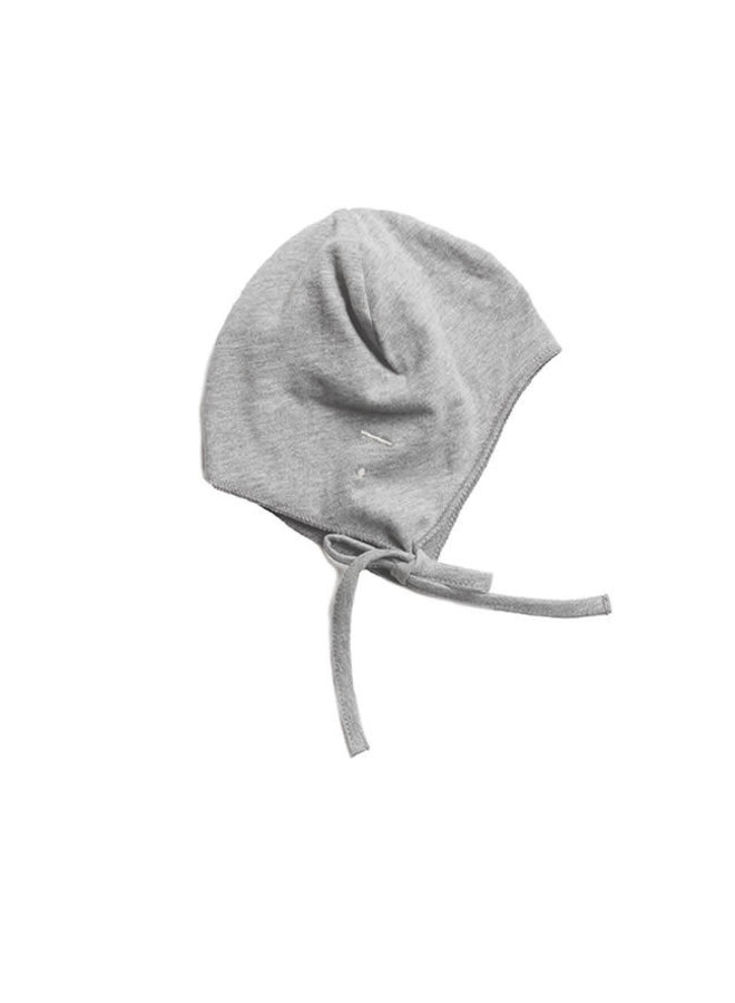 Baby Hat Strings Grey