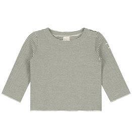 Gray Label LS tee Moss Stripe