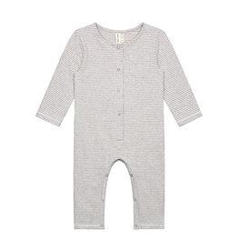 Gray Label Playsuit Grey Cream stripe