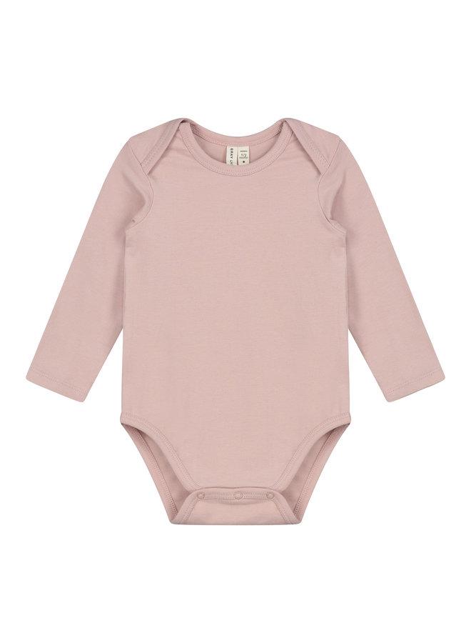 Baby LS Onesie Vintage Pink