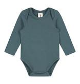 Gray Label Baby LS Onesie Blue Gray