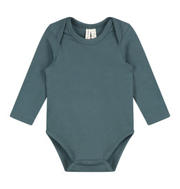 Gray Label Baby LS Onesie Blue Gray
