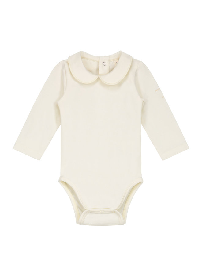 Baby Collar Onesie Cream