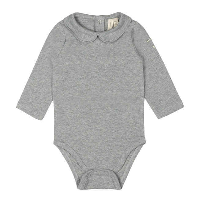 Gray Label Baby Collar Onesie Grey