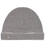 Gray Label Baby Beanie Black White Stripe