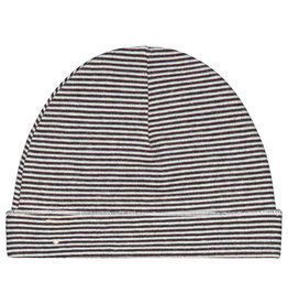 Gray Label Baby Beanie Black White Stripe