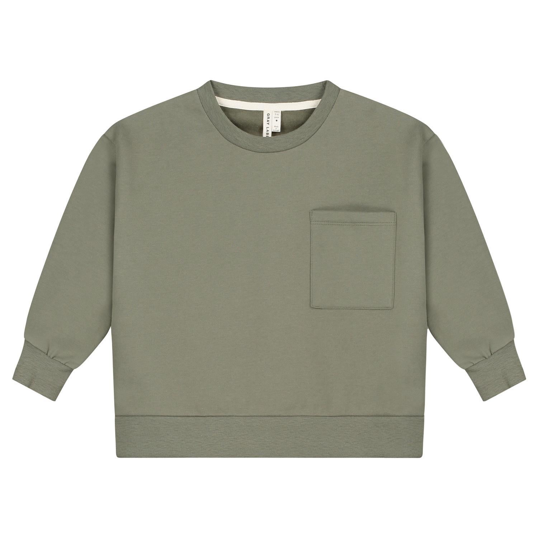 Gray Label Boxy Sweater Moss