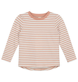 Gray Label LS stripe tee clay cream