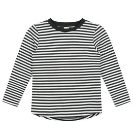 Gray Label LS stripe tee black cream