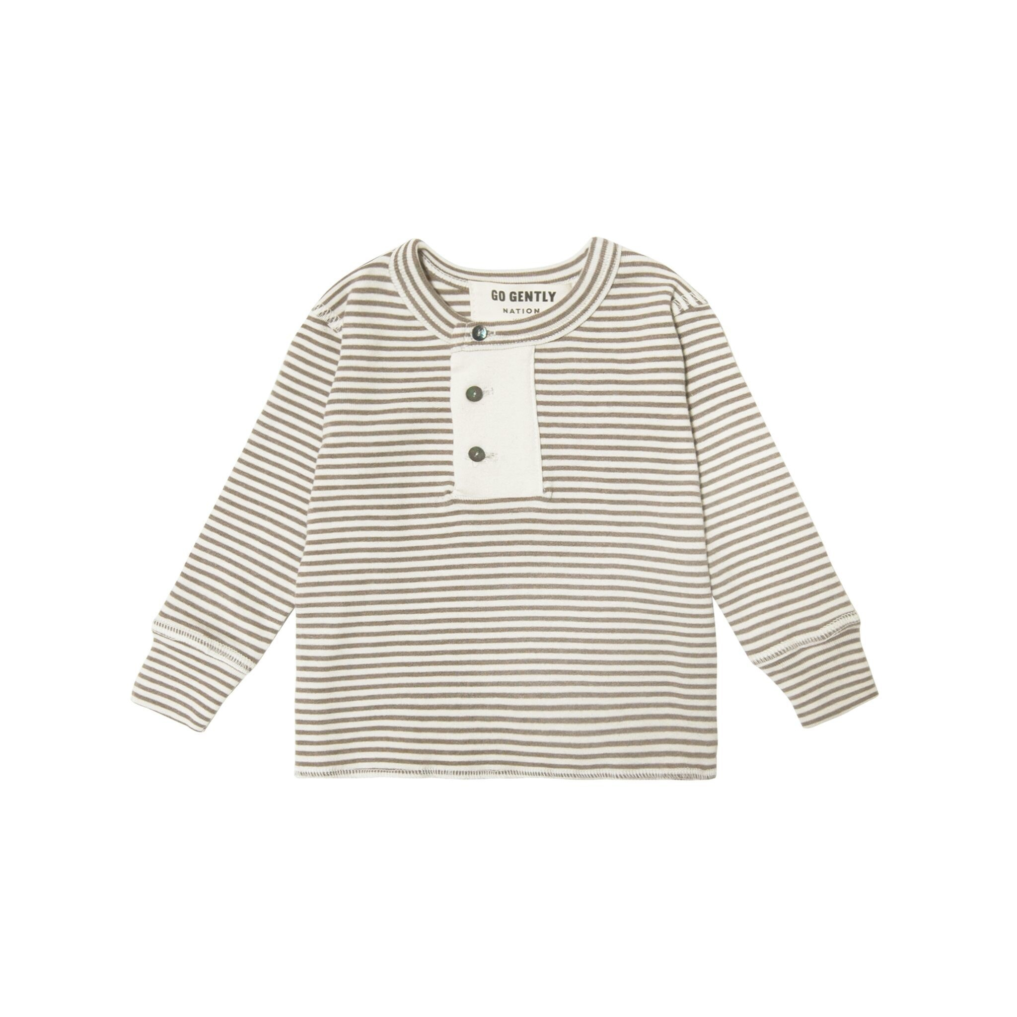 Go Gently Mud Stripe Henley