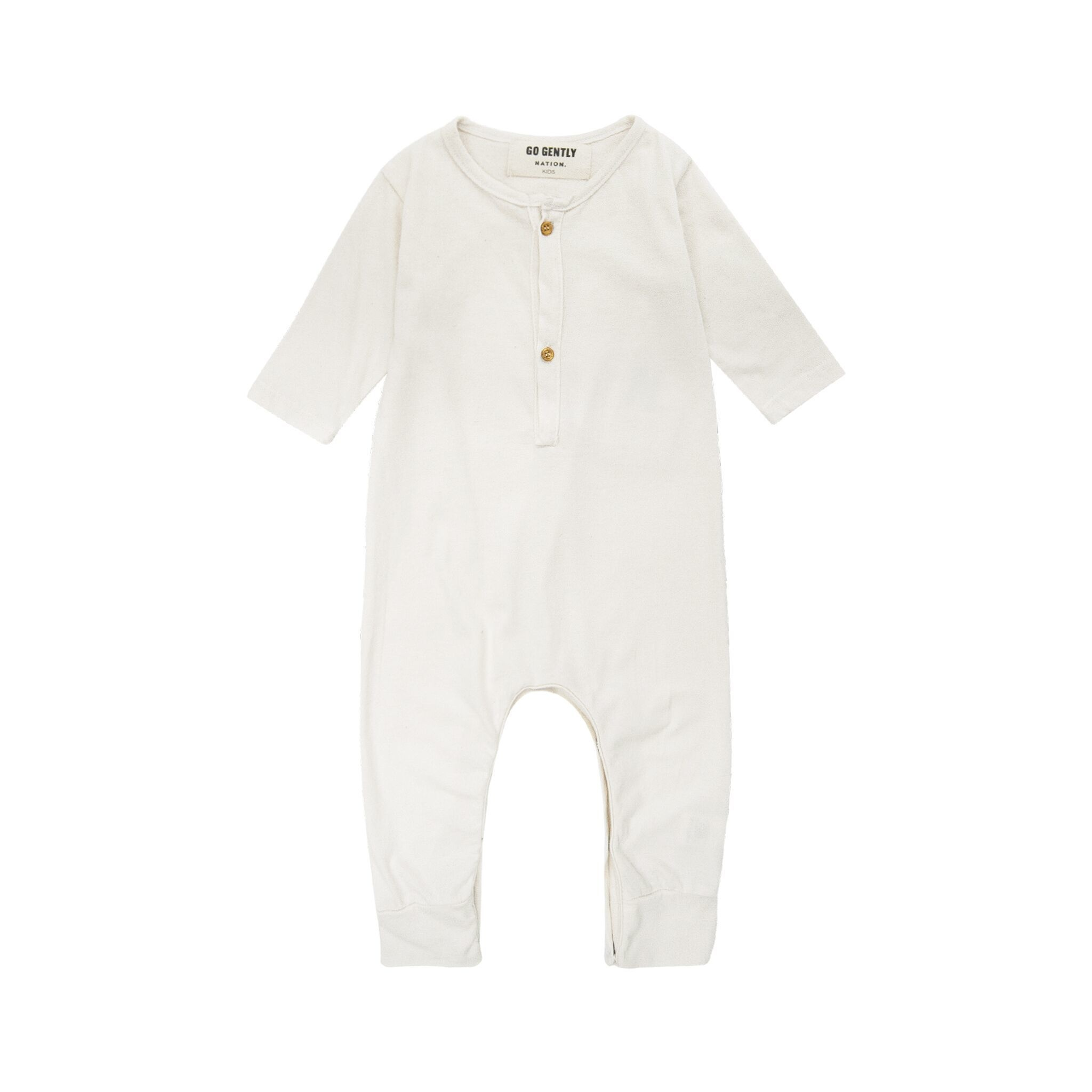 Go Gently Jersey Playsuit Natural