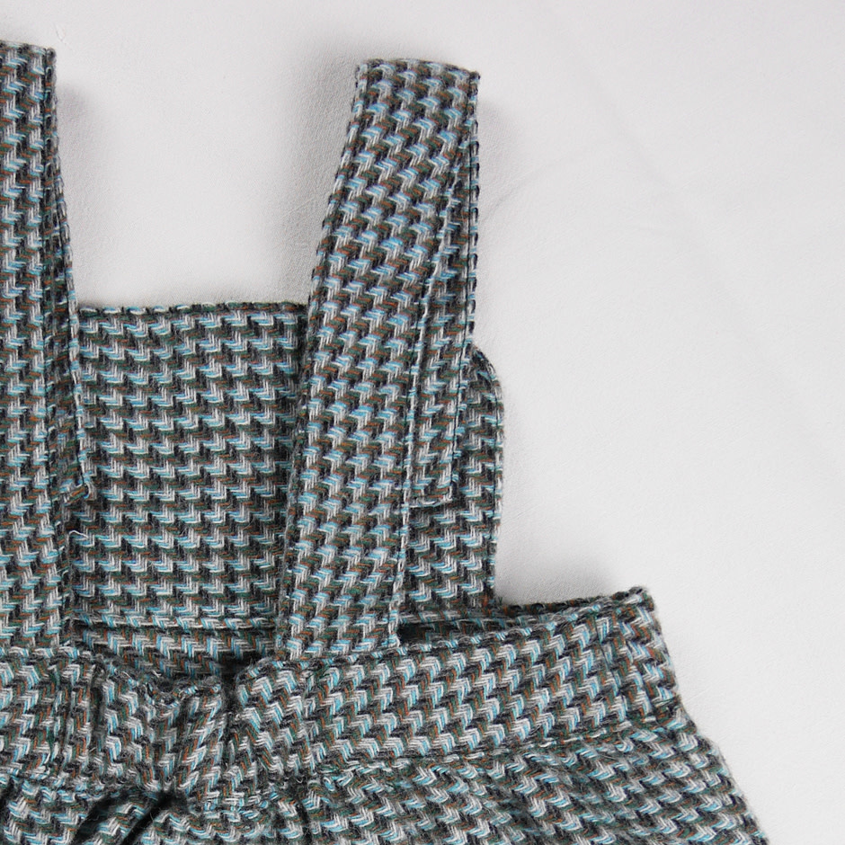 la petite collection Houndstooth Overall Dress