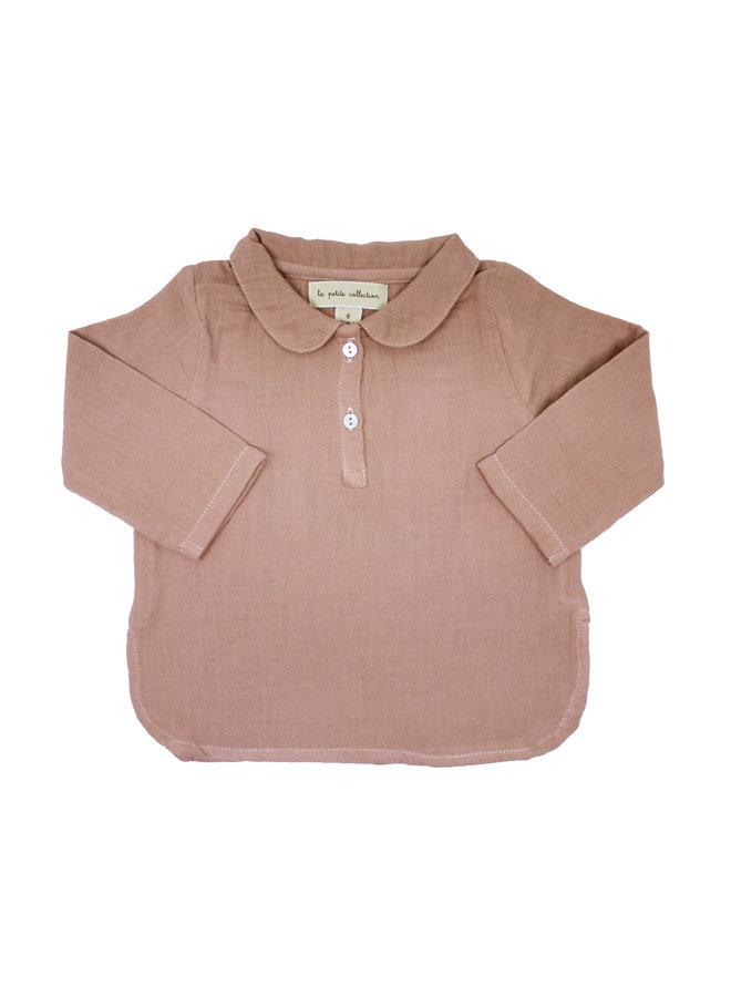 Claudine Shirt Pink Gauze