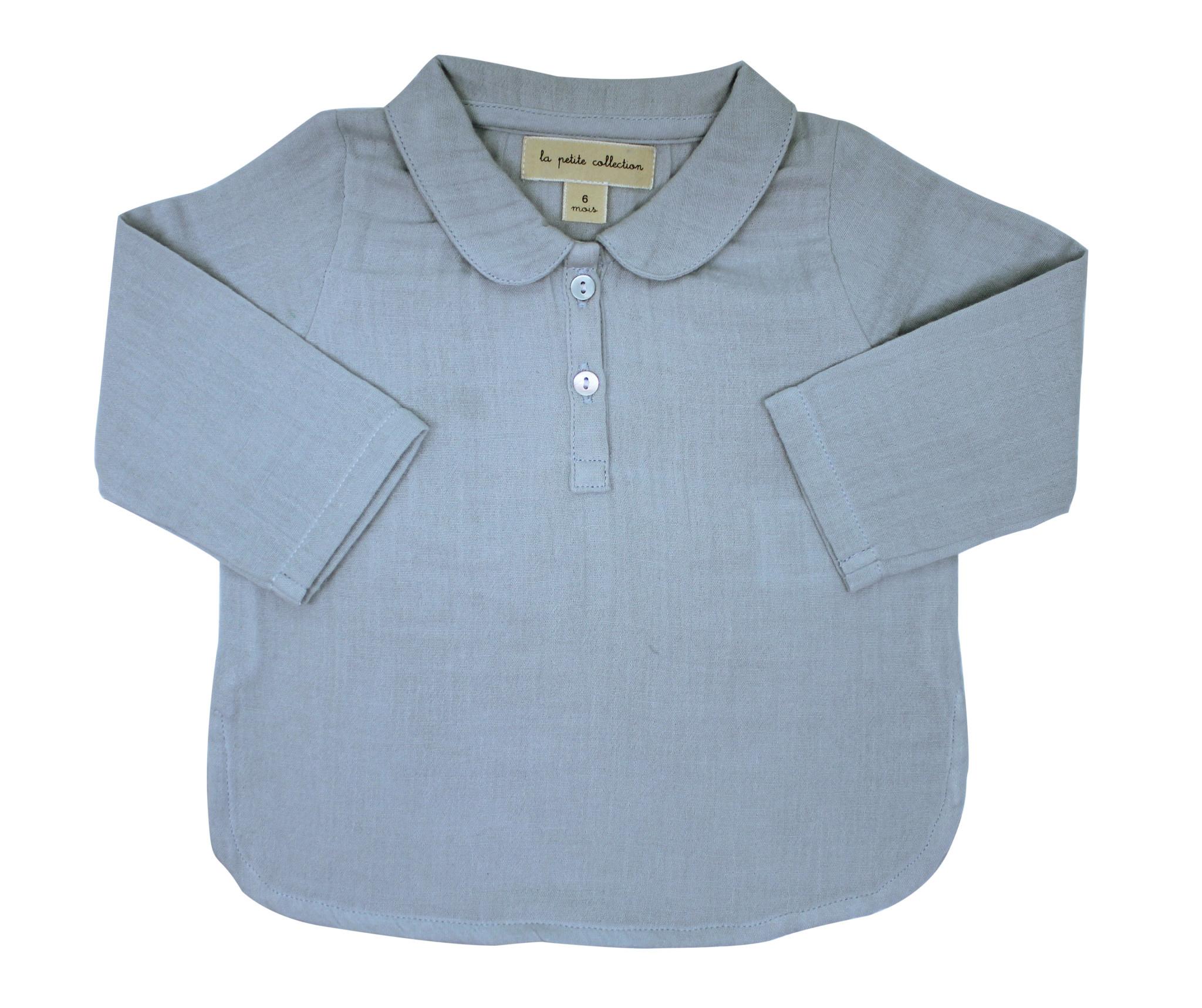 la petite collection Claudine Shirt Sky Gauze