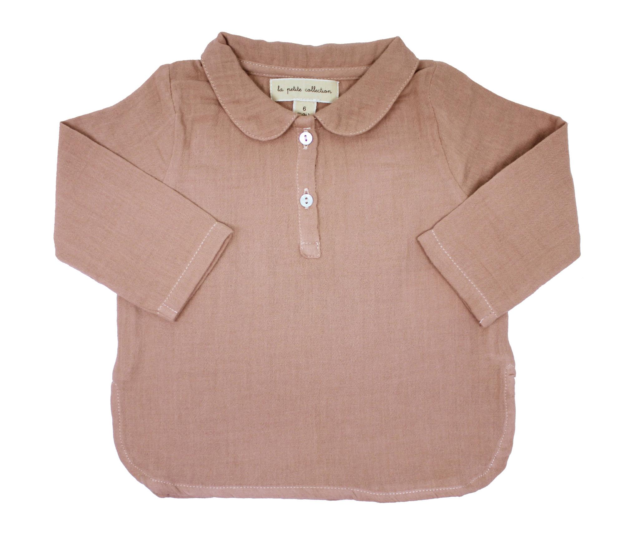 la petite collection Claudine Shirt Pink Gauze