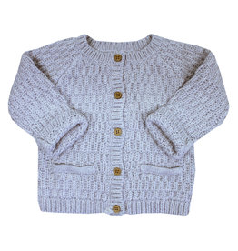 la petite collection Waffle Cardigan Grey