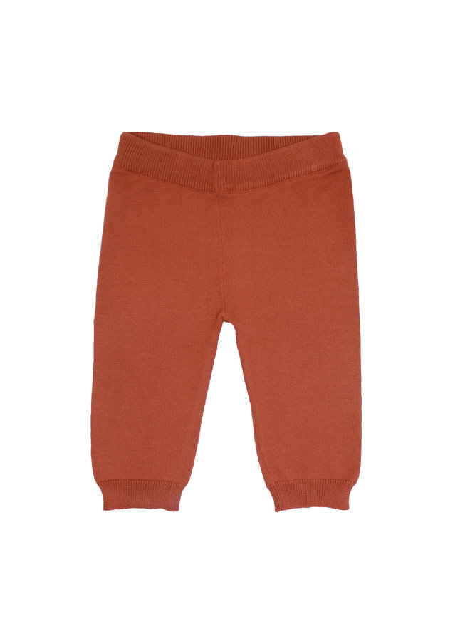 Knit Trousers Rust