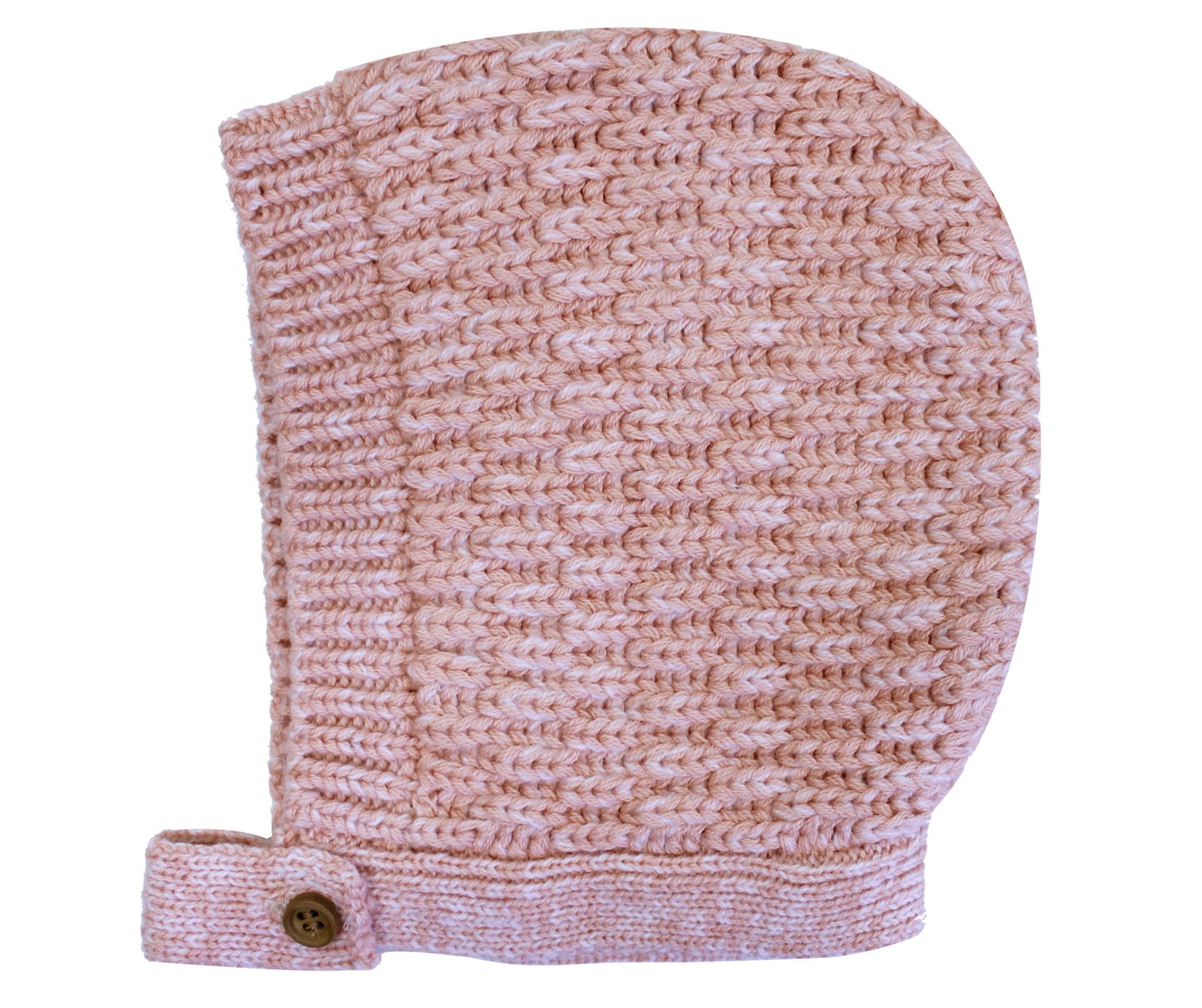 la petite collection Waffle Bonnet Pink