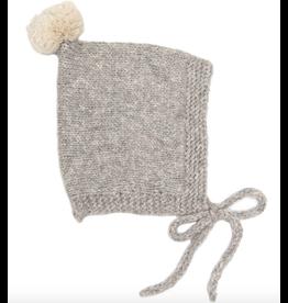 Petit Kolibri Vintage Pompom Hat Grey