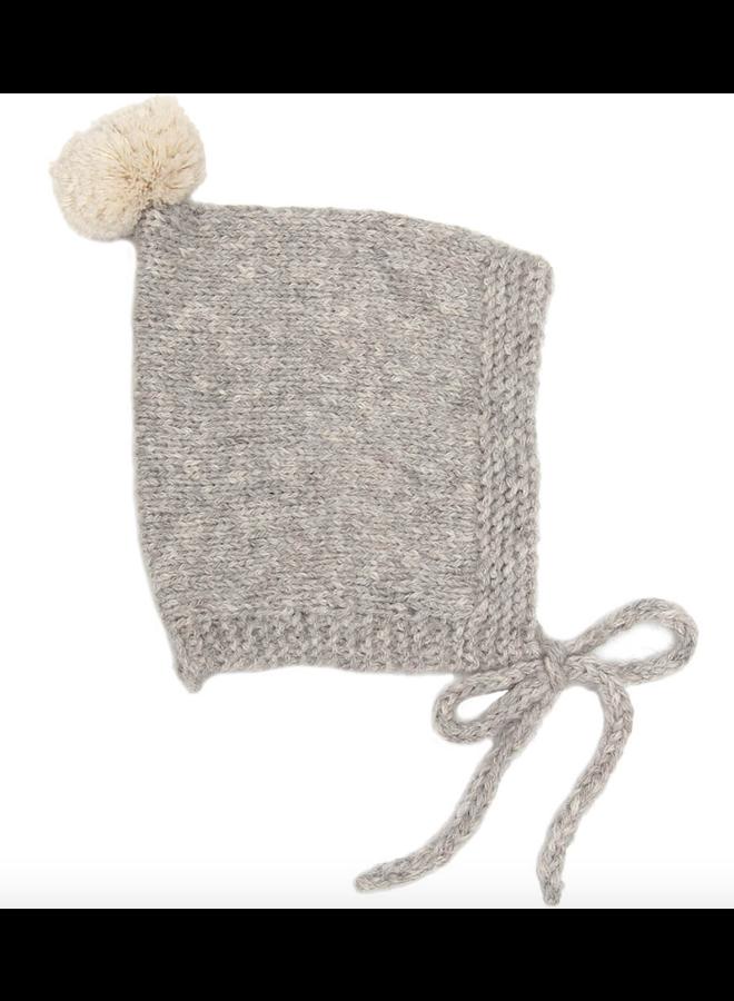 Vintage Pompom Hat Grey