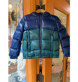 Blue Green Puffy Coat