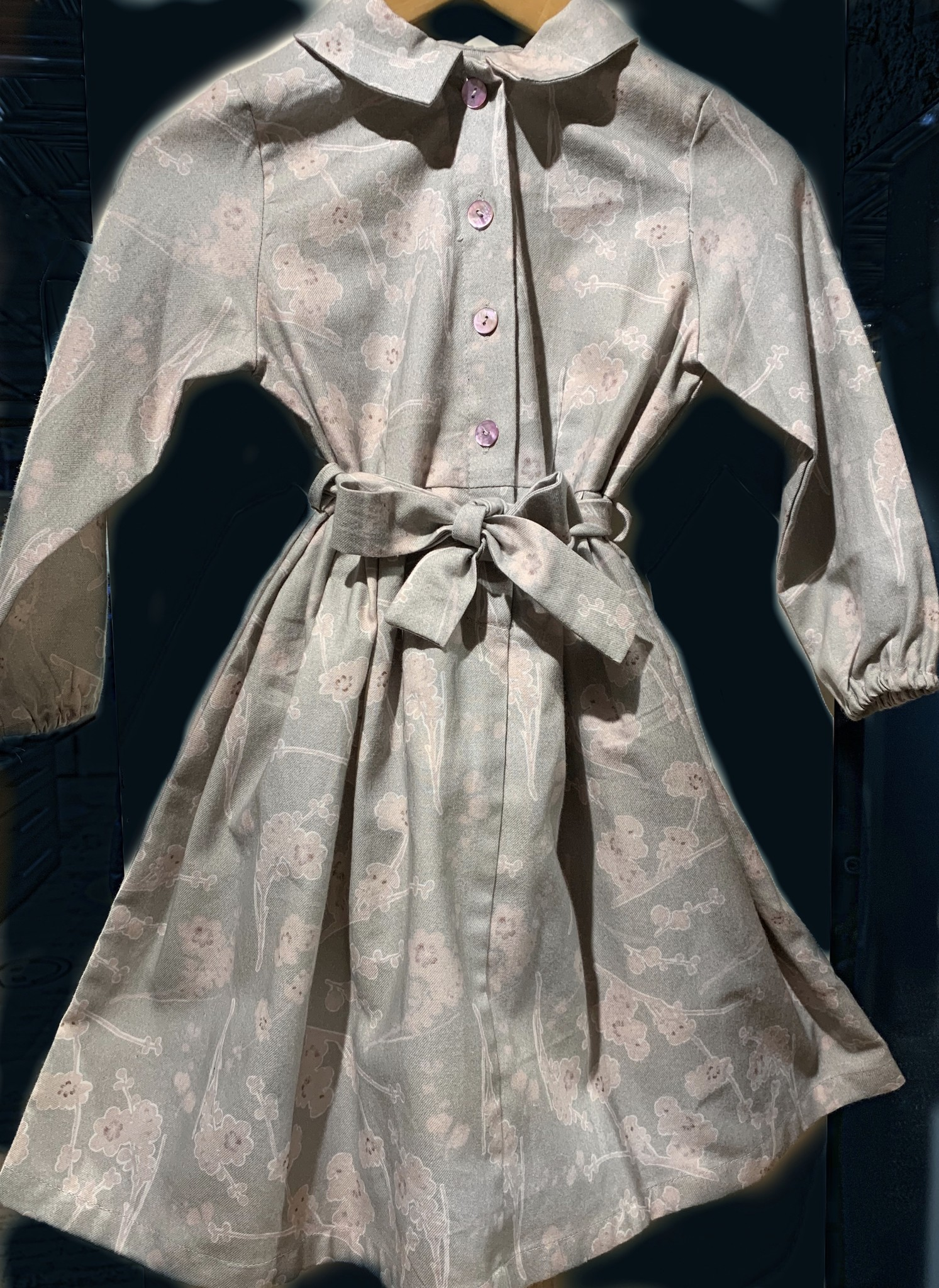 Minina Pale Violets Dress with Sash