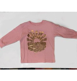 Lucky Fish T Pink Sunburst