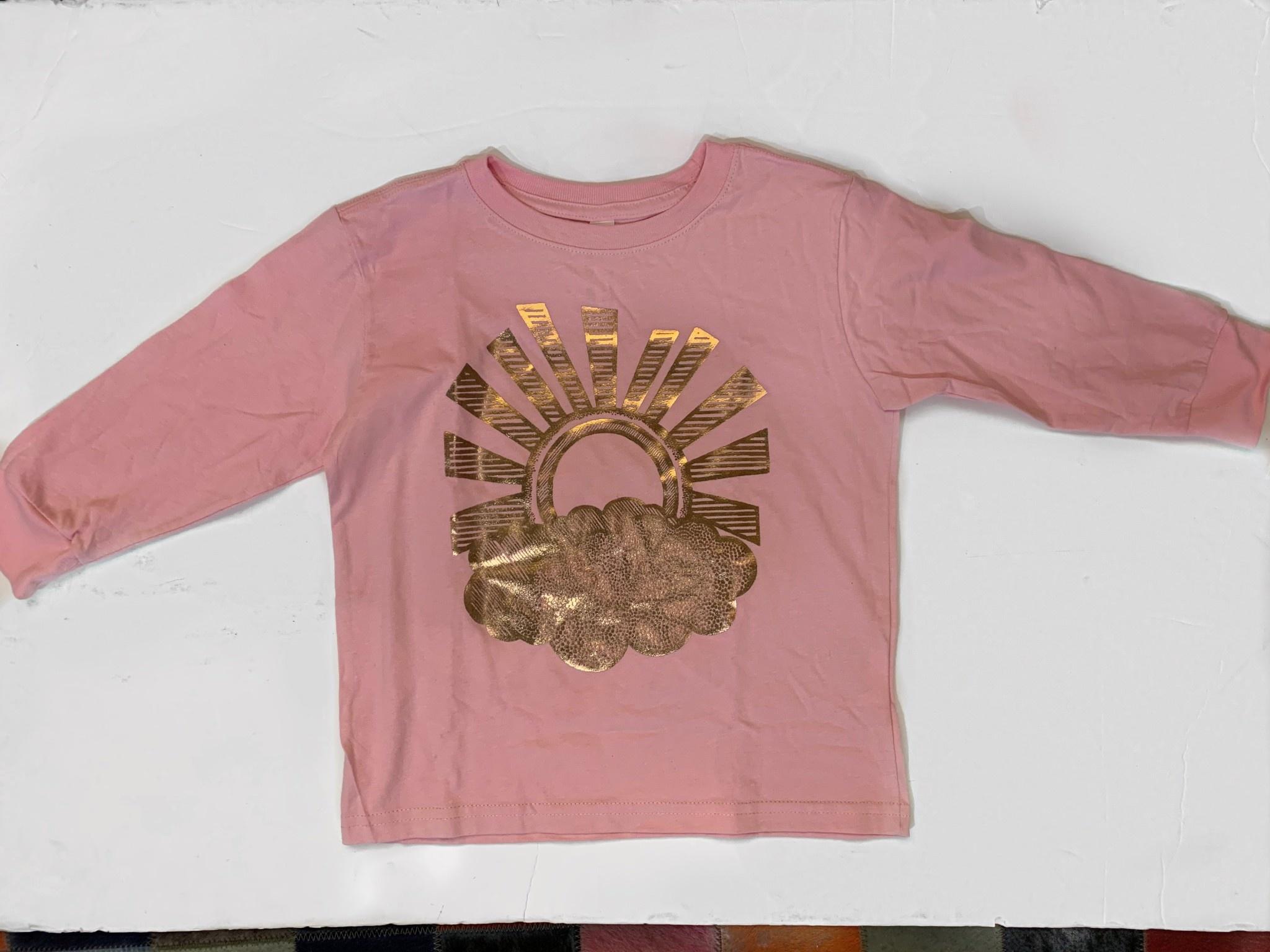 Lucky Fish T Pink Sunburst