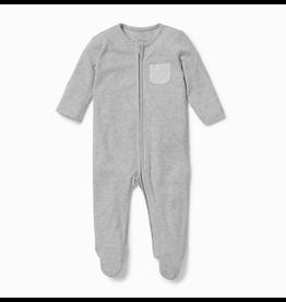 mori Zip-Up Sleepsuit Grey
