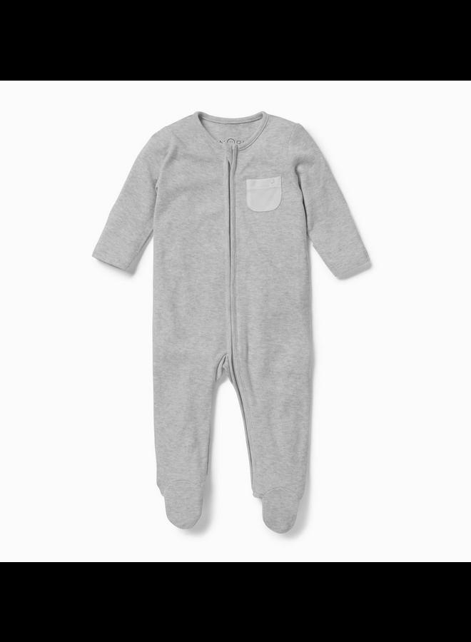 Zip-Up Sleepsuit Grey