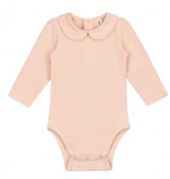 Gray Label Collar Onesie Red/Cream