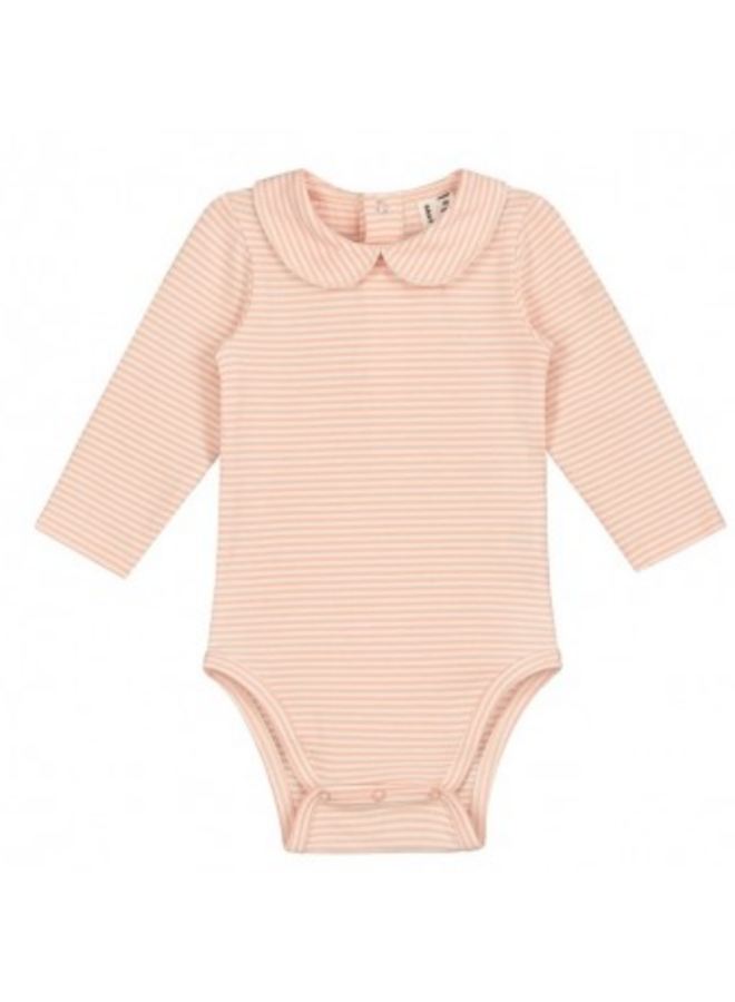 Collar Onesie Red/Cream