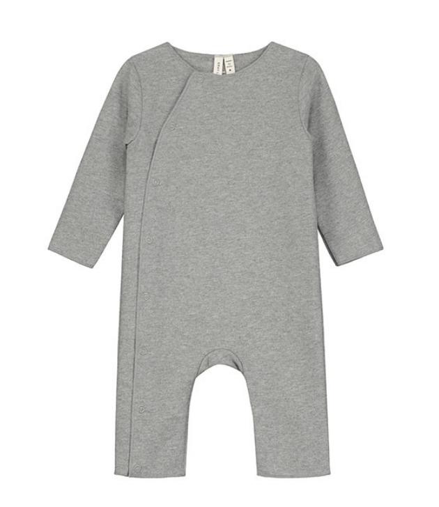 Gray Label Body Suit Snaps Grey