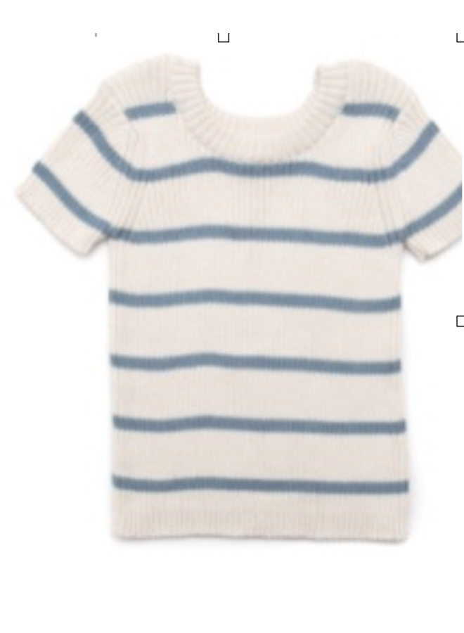 Stripped knitted top blue