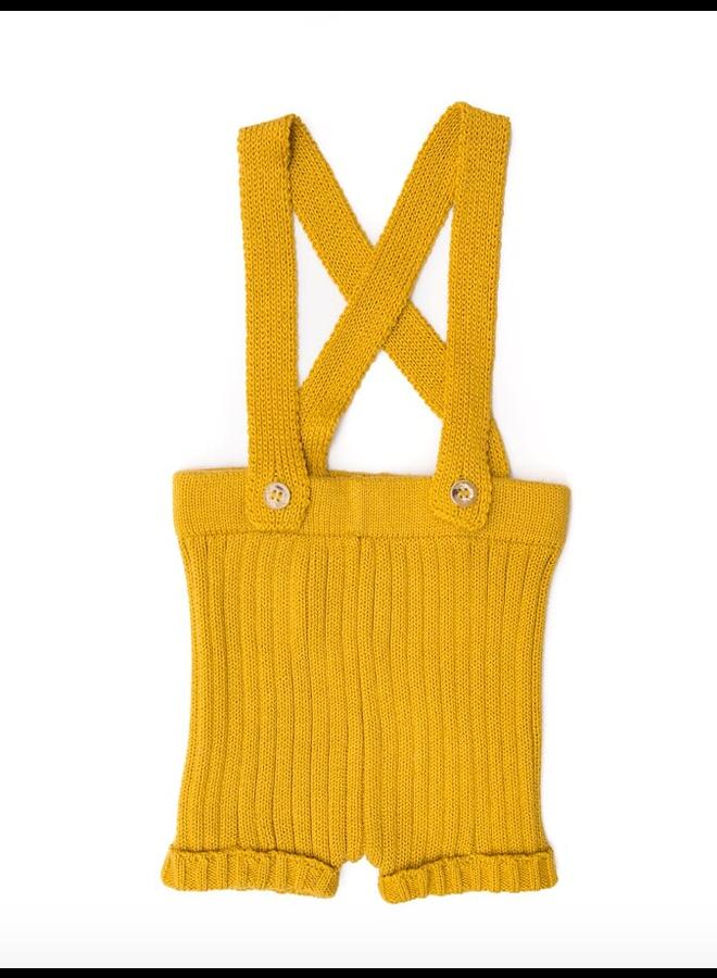 Suspender Shorts Yellow