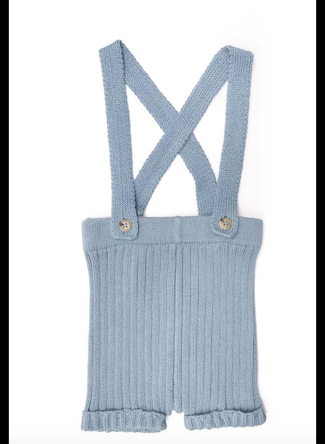 Suspender Shorts Blue