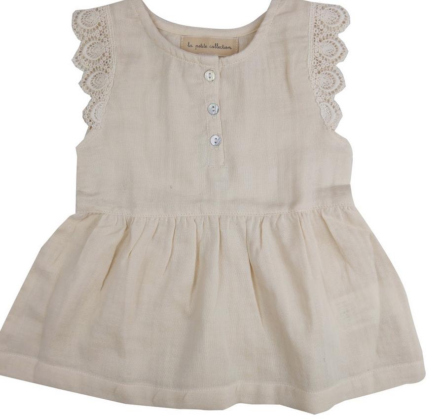 la petite collection Lace Dress Vanilla Gauze
